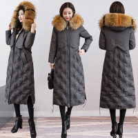 羽绒服女2018韩版中长款过膝白鸭绒女士女款时尚女装冬季外套
