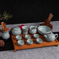 茶具套装茶具茶杯竹茶盘四合一