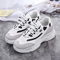 女鞋2018夏季新款休闲鞋女 透气网布鞋女小白鞋女内增高板鞋韩版老爹鞋女鞋