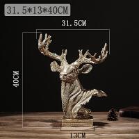 鹿摆件摆设饰品客厅简约现代酒柜装饰品电视柜玄关装饰树脂工艺品