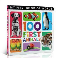 英文原版 My First Book of Words: 100 First Animals 主题图画词典100 词汇