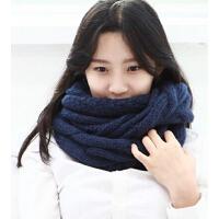 韩国女冬天韩版加厚套头冬季保暖毛线围脖学生脖套