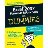 【预订】Microsoft Office Excel 2007 Formulas & Functions For