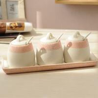 创意厨房用品陶瓷调味罐套装欧式调味品罐套装调味瓶调料盒盐罐