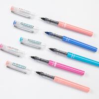 中性笔直液式走珠笔学生用中性笔签字笔考试笔办公用品X77彩色笔杆笔型笔白雪笔可换笔芯中性笔可换替芯