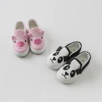 戴维贝拉童装春季新款男女童板鞋宝宝卡通帆布鞋DB10251