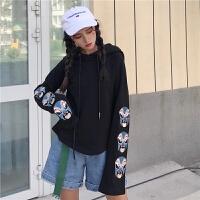 社会女韩版爵士舞服装街头bf个性连帽嘻哈卫衣街舞酷酷的衣服