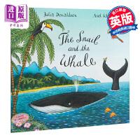 【中商原版】海蜗牛和座头鲸英文原版The Snail and the Whale BigBook地板书 名家绘本