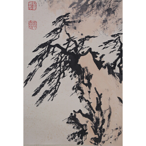 Y007董寿平黄山