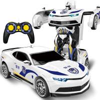 【遥控变形玩具大白蜂】加大警车汽车机器人男孩儿童玩具