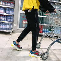 2018春夏新款男士简约休闲裤韩版学生宽松小脚裤百搭潮牌哈伦裤子