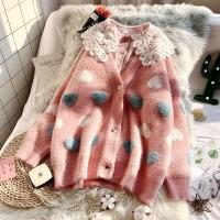 毛衣外套女2019新款春装可爱针织开衫很仙的韩版宽松慵懒风洋气 均码