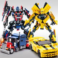 积木男孩子6变形机器人金刚8儿童拼装玩具79岁