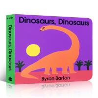【全店300减100】英文原版 Dinosaurs Board Book 恐龙纸板书撕不烂启蒙3-6岁儿童认知科普亲子幽