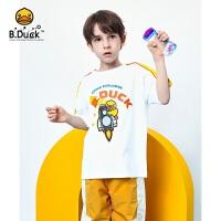 【4折价:79.6】B.duck小黄鸭童装男童圆领短袖T恤 BF2101919