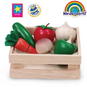 [当当自营]泰国Wonderworld 蔬菜篮 切蔬菜玩具 早教积木切切乐厨房玩具幼儿园玩具