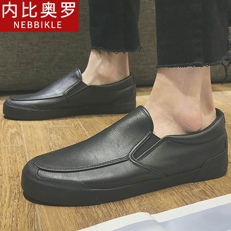 2018新款驾车鞋男潮鞋套脚男鞋韩版潮流乐福鞋