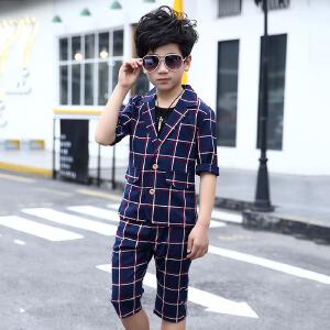乌龟先森 儿童T恤套装 男女童棉质短袖圆领卡通夏季半袖韩版新潮时尚休闲可爱中小童装套装