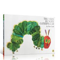【全店300减100】英文原版卡尔爷爷经典作品 The Very Hungry Caterpillar 好饥饿的毛毛虫大