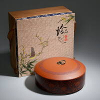 紫砂茶�~罐陶瓷存��罐大�普洱白茶包�b空�Y盒357克一茶�醒茶罐
