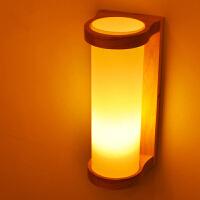 【满199-100】创意木灯 木艺楼梯 玄关过道灯 卧室床头灯 玻璃实木壁灯卧室床头灯 玻璃实木壁灯YX-LMD-2146