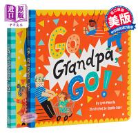 【中商原版】跟爷爷去玩,跟奶奶去玩2册套装 Go, Grandpa,Grandma, Go! 亲子绘本 祖孙情感 亲情