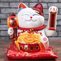 20180528172925477猫摆件电动电池摇手猫陶瓷大号家居店铺开业创意生日礼品