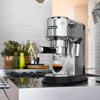 Delonghi/德龙  EC680 意式家用半自动咖啡机 金属不锈钢(金属色均码) 意式家用半自动咖啡机 金属不锈钢