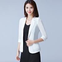 小西装七分袖短款外套2018韩版新品夏天薄款开衫网纱披肩上衣女士