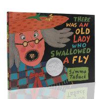 (顺丰发货)英文原版绘本 There Was An Old Lady Who Swallowed A Fly 凯迪克奖