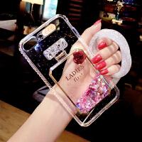 苹果6手机壳挂绳女透明iphone6硅胶套来电闪6splus全包