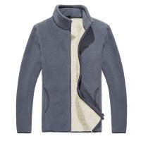 羊羔绒外套男士加绒加厚摇粒绒卫衣抓绒保暖夹克立领开衫运动衫