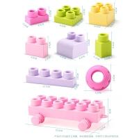 婴幼儿积木玩具0-1-2周岁3早教可啃咬软胶宝宝大颗粒硅胶启蒙儿童