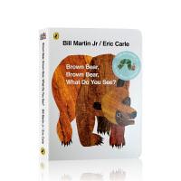 【全店300减100】英文原版 Brown Bear Brown Bear what do you see 棕色的熊 廖
