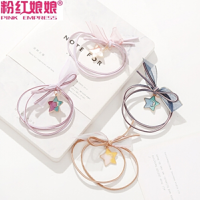 韩国可爱少女心星空头绳高弹力橡皮筋头饰打结发绳发圈扎头发饰品