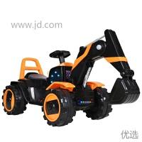 【新品】儿童电动挖掘机玩具车可坐可骑宝宝超大号男孩挖土机可遥控工程车 黑