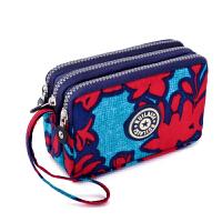 经典零钱包女式手机包简约手拿包布艺小包多层钥匙包轻便百搭钱包 幸运红