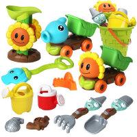 儿童沙滩玩具车套装宝宝玩沙子挖沙工具洗澡戏水铲子和桶男孩女孩