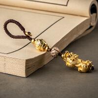 手工貔貅钥匙扣高档汽车钥匙挂件平安招财转运男女士创意编织