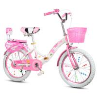折叠儿童自行车20寸18/16寸女孩带辅助轮单车6-8-12岁小学生小孩女童车