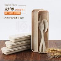 创意便携小麦餐具盒套装 韩国旅行儿童勺子筷子叉套装 学生礼盒M