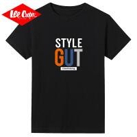 Lee Cooper男士短袖T恤2020新款潮圆领ins个性简约风百搭青少年短袖t恤男