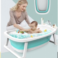儿童泡澡缸新生儿沐浴桶用品婴儿洗澡盆家用宝宝折叠浴盆厚大号