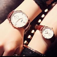 艾奇 石英表超薄款手表高档皮带简约腕表百搭水钻学生表男表女表1001