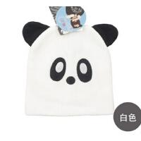 时尚男童女童冬季保暖帽毛线熊猫动物帽儿童帽子适合2-6岁