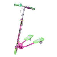 小丽明儿童蛙式滑板车 铝合金小孩蛙式 三轮车活力扭扭车 XLM902