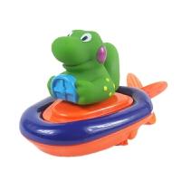 宝宝婴儿洗澡玩具戏水拉绳发条船儿童玩水玩具拉线玩具小动物会跑