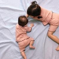 儿童睡衣夏季女童宝宝小孩薄款小童婴儿空调家居服