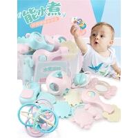 婴儿手摇铃玩具牙胶益智宝宝新生男女孩玩具