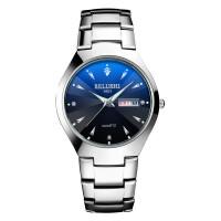 星期日历手表男女学生钢带男表皮带石英男士手表